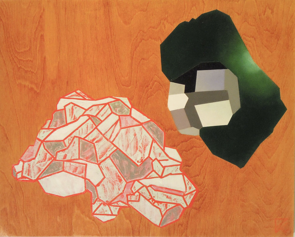 "Untitled  oil on panel 20""x16"" 2015"
