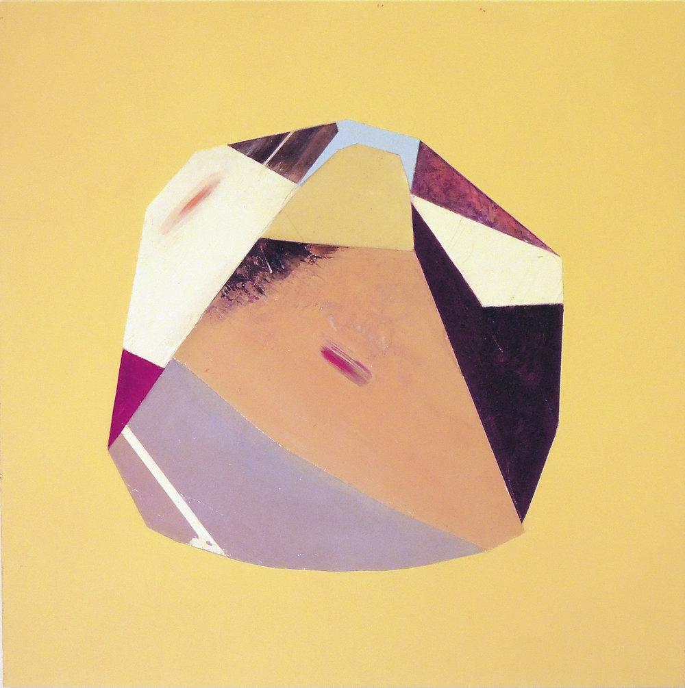 "Untitled   oil on clayboard 12' x 12'"" 2015"