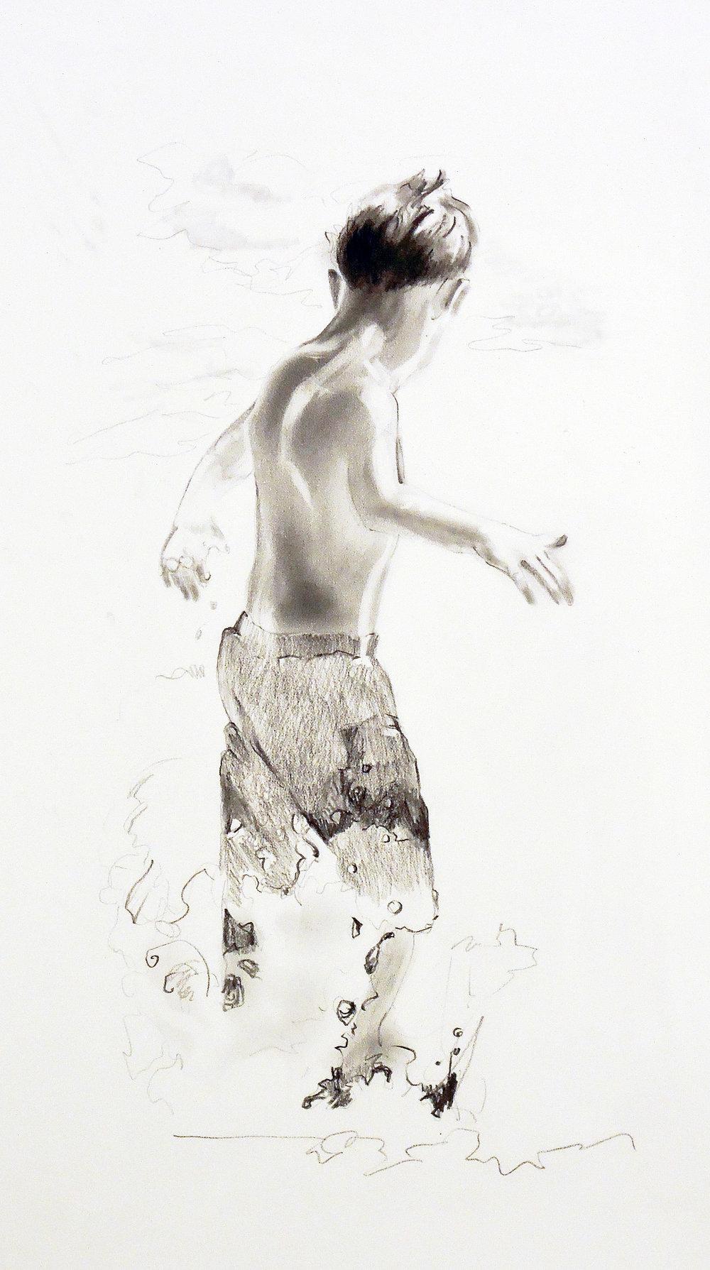 "Untitled  graphite 18"" x 10"" 2007"