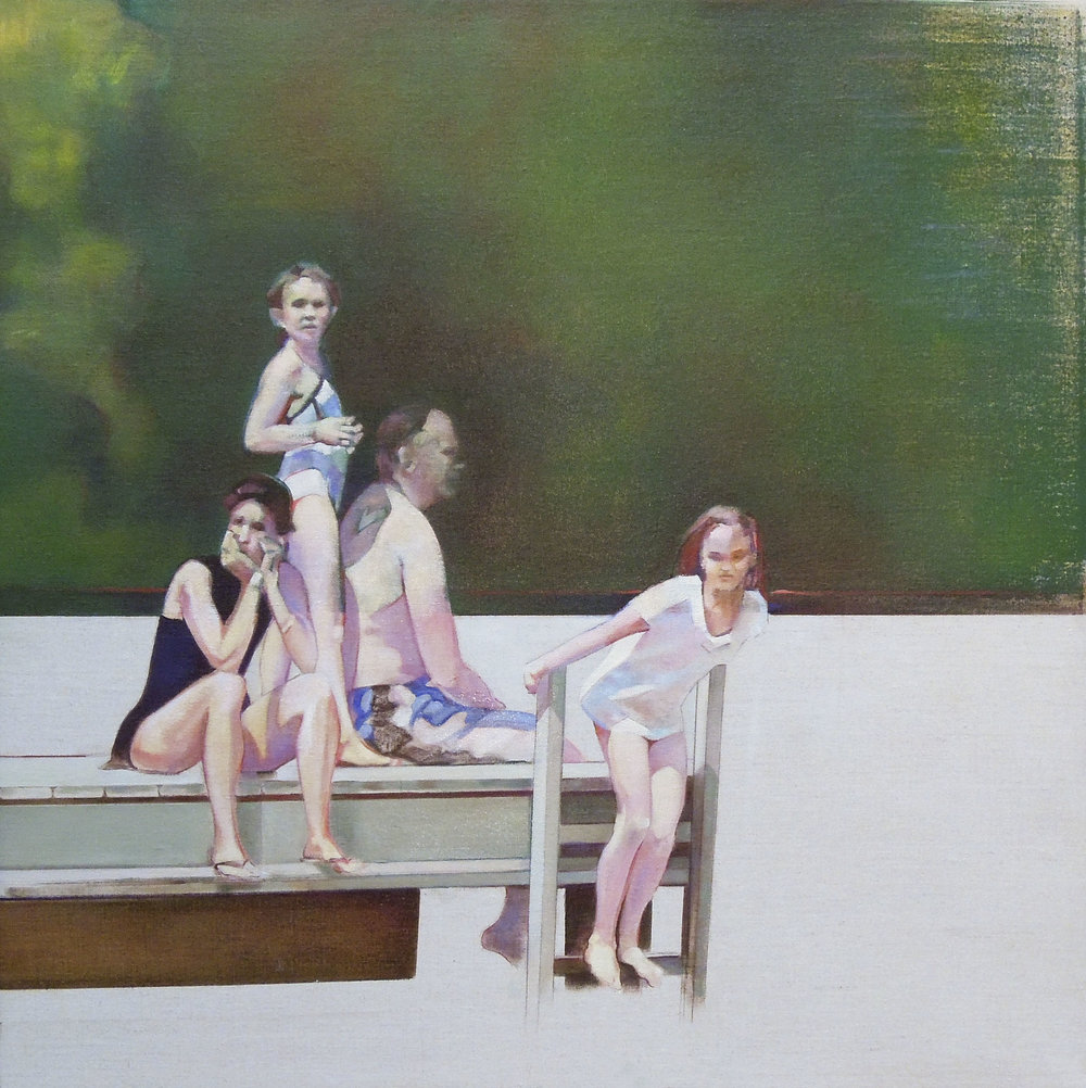 "The Dock  oil on linen 24"" x  24"" 2018"