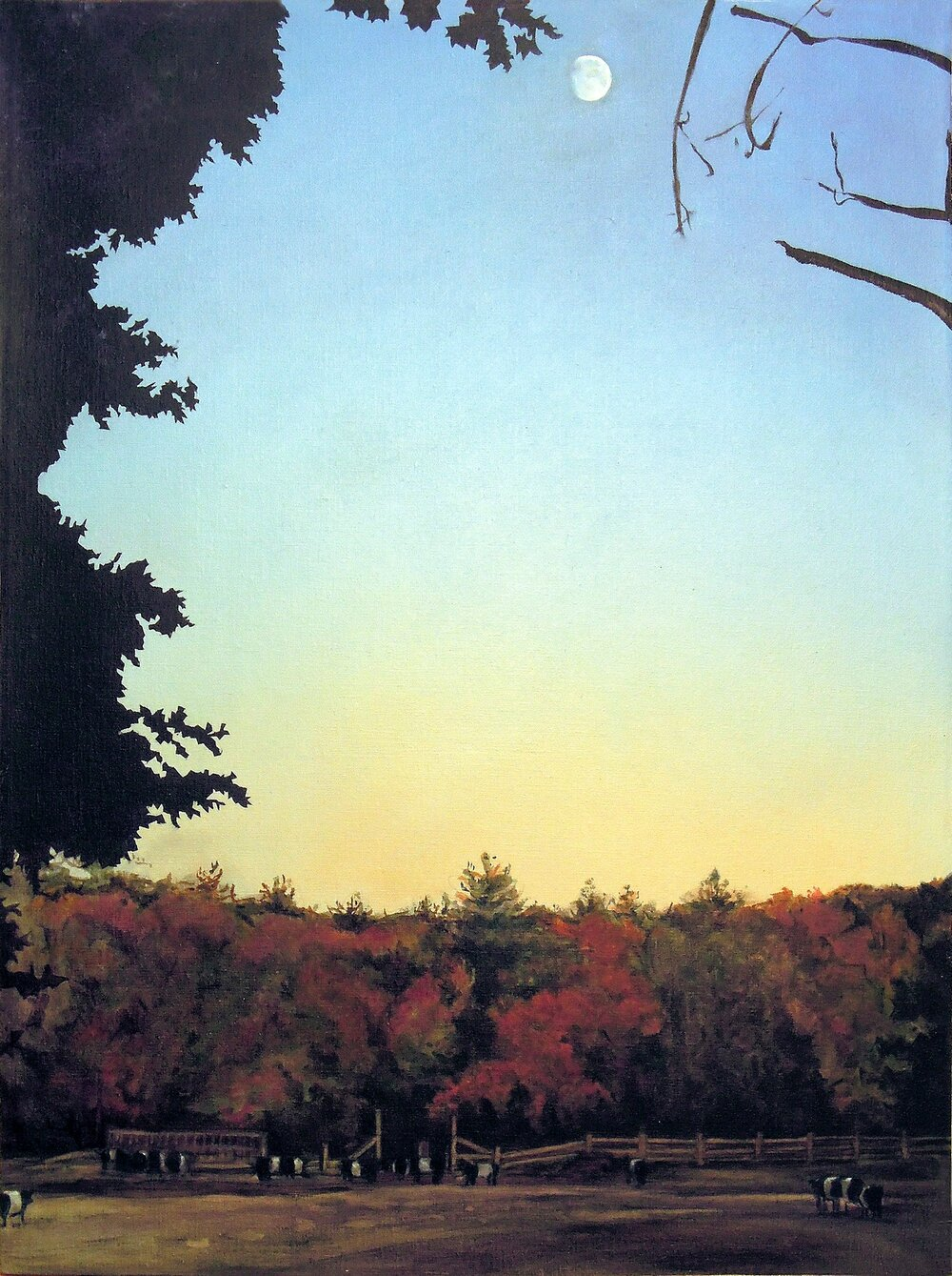 Dusk at Flint's Field  oil on linen 2014 *