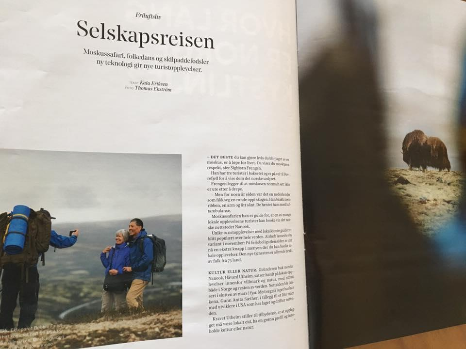 D2, a weekend magazine and part of Norwegian financial paper Dagens Næringsliv, joined us for a musk ox safari