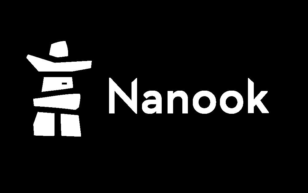 Nanook logo white Png