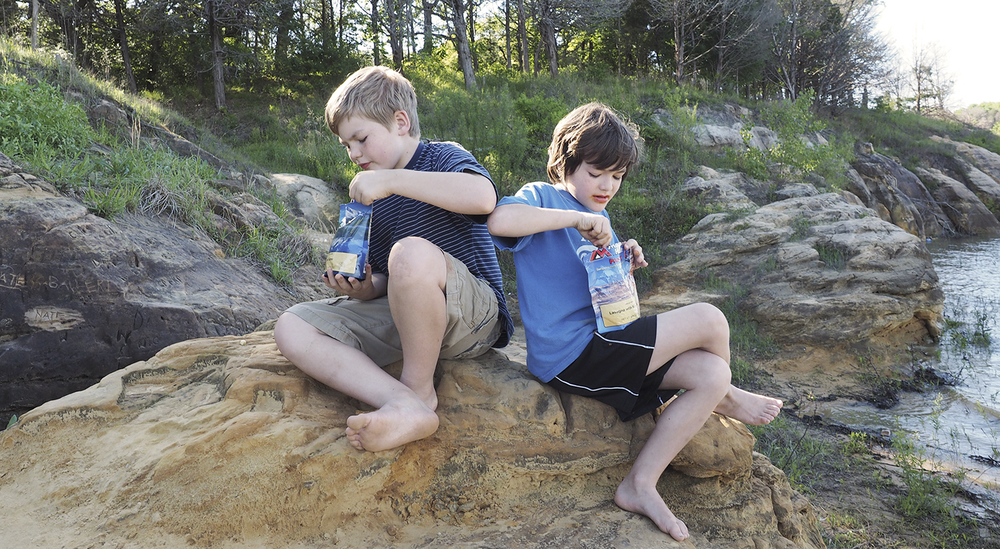 The kids quickly discovered how amazing food tastes when you are backpacking.