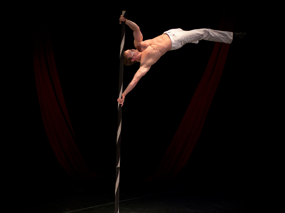 Solo Pole Acrobatics
