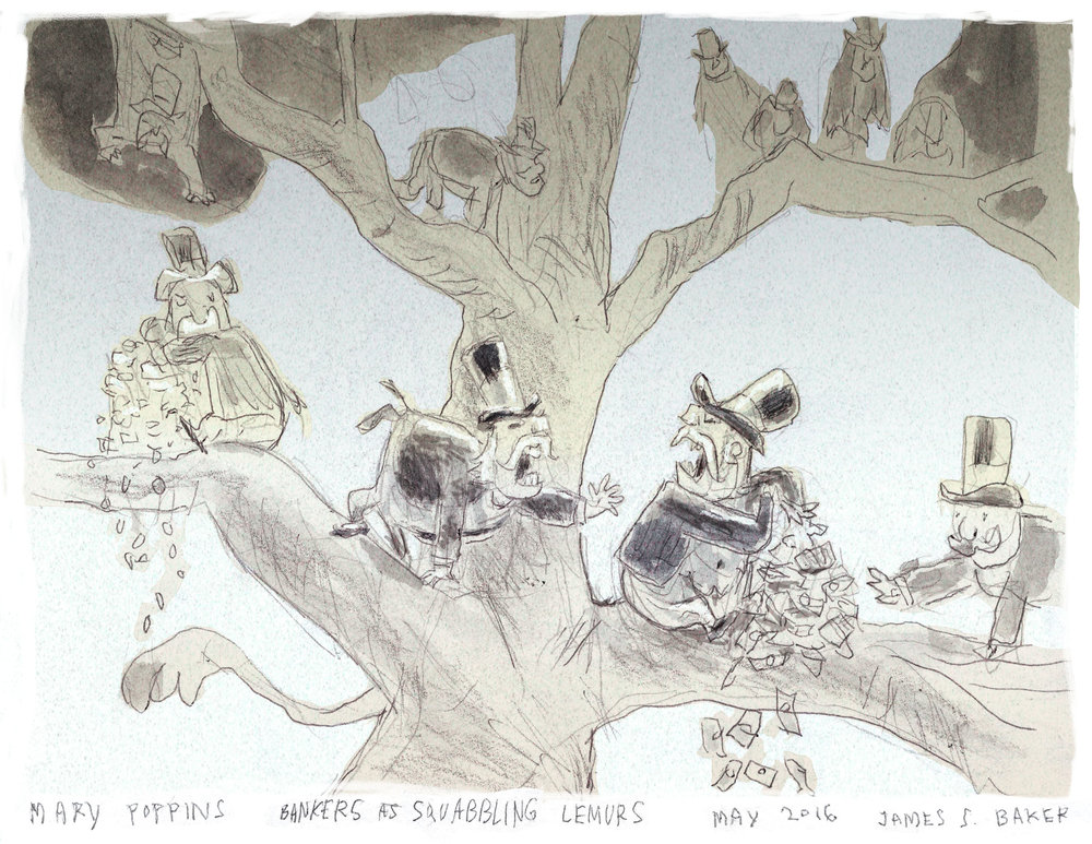 Jamie Baker concept for Anthropomorphic Zoo sequence of Mary Poppins Returns