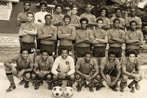"Legendary Trinidad & Tobago National Senior team denied their rightful place in West Germany '74 as the sole qualifier of the CONCACAF region by the bribery of FIFA referees by the infamous Haitian dictator Jean-Claude ""Baby Doc"" Duvalier (1973)."