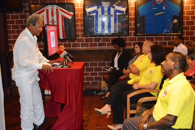 Author and playwright, Earl Lovelace, delivered an inspirational speech decorated with T & T football history and its connection to our social and cultural identity and provided colourful examples of the expression of our T & T culture through playing football. He also applauded the founder of the GFFS for promoting and trying to reestablish the rhythmic and attractive indigenous Trinbagonian style within the youth footballers of T & T.