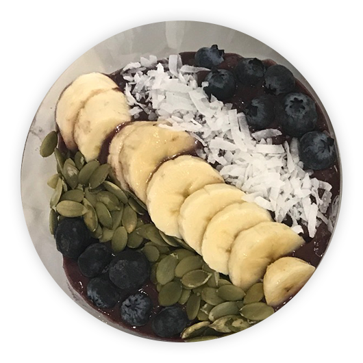 Greek Crave Acai Bowl at Henry's Sweet Retreat