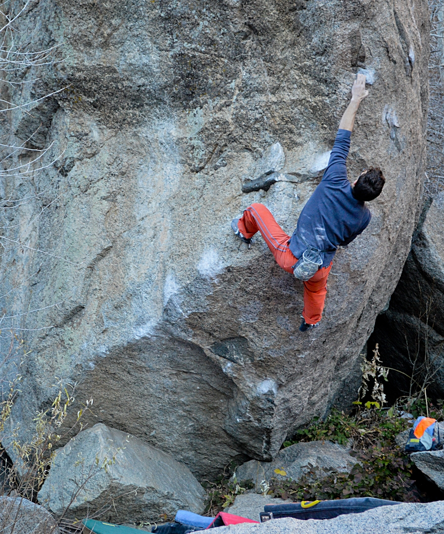 Get to know a technical master – Jonny Hork. I've never, ever heard his toes before. This is him on Burnout |V12| outside of Boulder, Colorado.