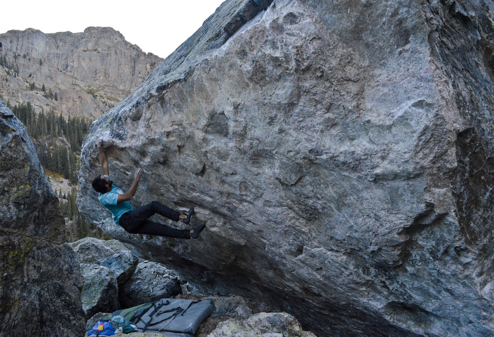 Wes Walker on his V6 FA, currently unnamed.