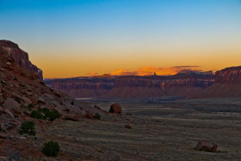 Desert dusk in Indian Creek.