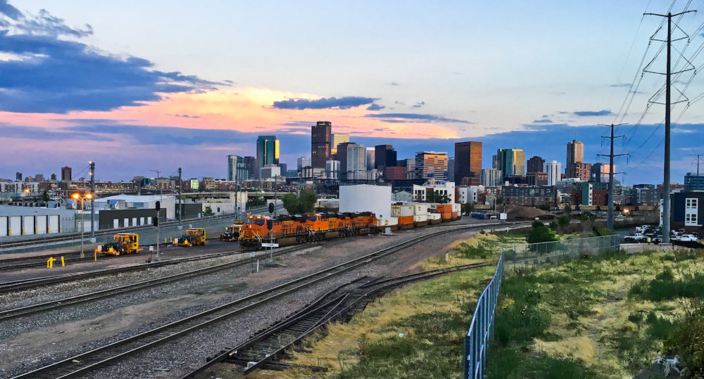 Denver, from the north.