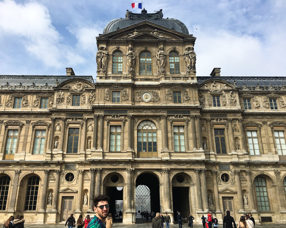 Jon and I visited the Louvre – we quickly got lost in its halls, which was our goal.
