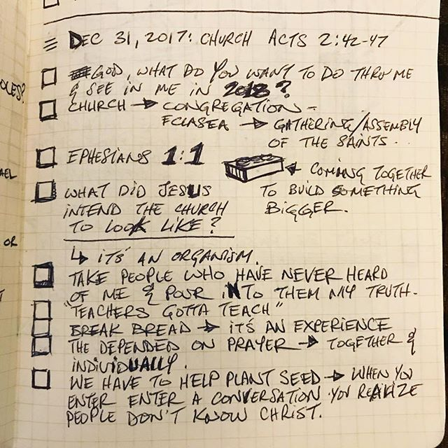 Part 1 Notes from today's message in Acts 2:42-47. Credit @drgorillapaints #awe #plantseeds #meetneeds
