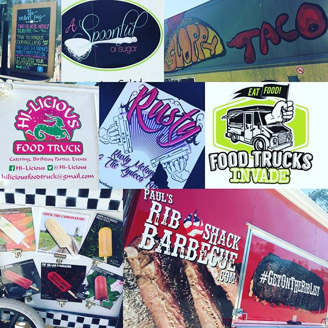 FOOD TRUCKS INVADE! Tonight at @cryingeaglebrew 5-8pm @bishopofbbq @hiliciousfoodtruck @popsandrockets @thesloppytaco @heybrayj @rustymetoyer_zydeco @a_spoonful_of_sugar_lc