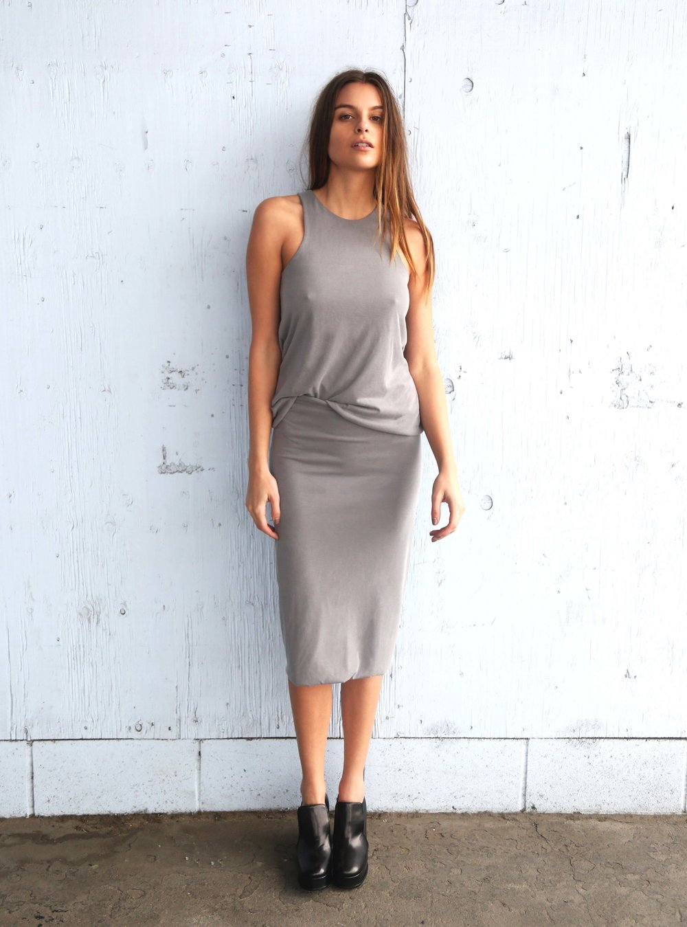 Brett Tank, Reagan Skirt in Grey