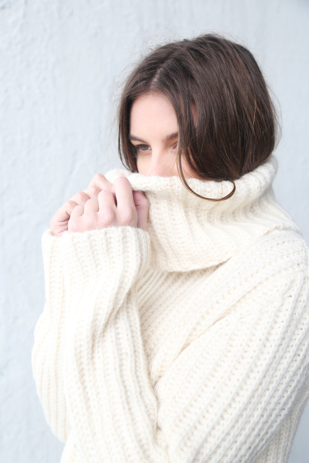 Heidi Turtleneck in Ivory