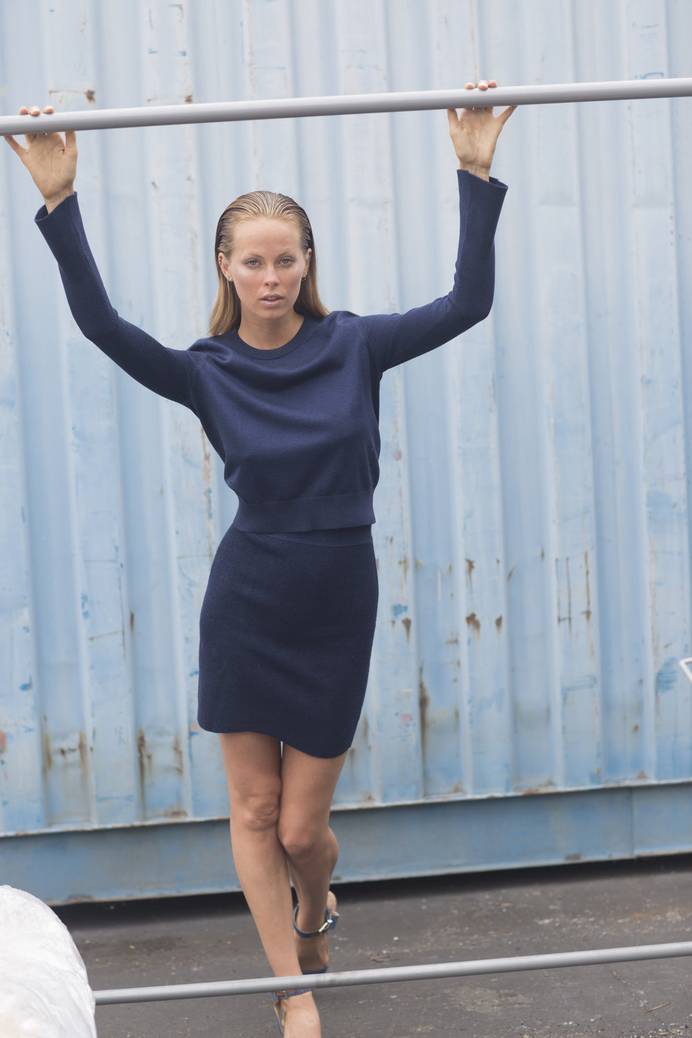 Janis Crew with Kiki Skirt in Navy