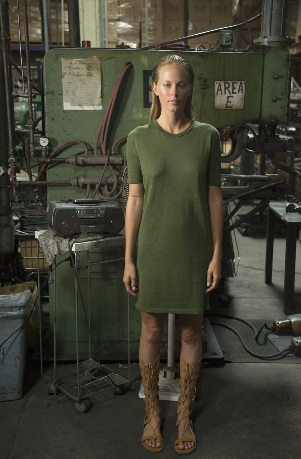 Lauren Dress in Army Green (color not available)