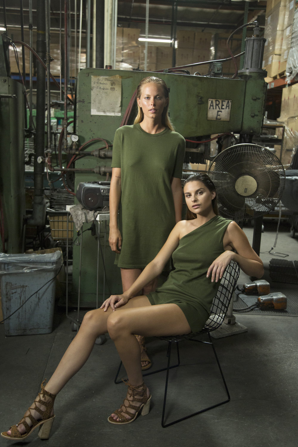 Lauren Dress, Kenny Tank, Bethany Short in Army Green (color not available)
