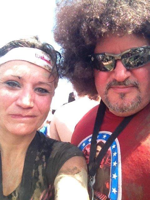 Tom and I after our Warrior Dash run. We dressed as 70's runners.