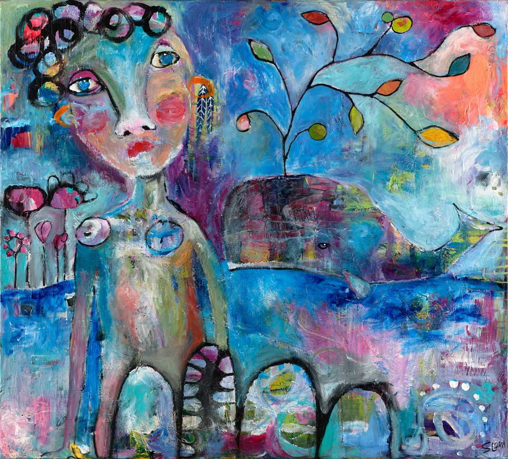 Woman and Whale - SOLD