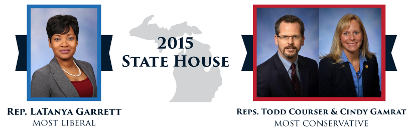 Rep. Latanya Garret, Rep. Todd Courser, and Rep. Cindy Gamrat 2015 State House