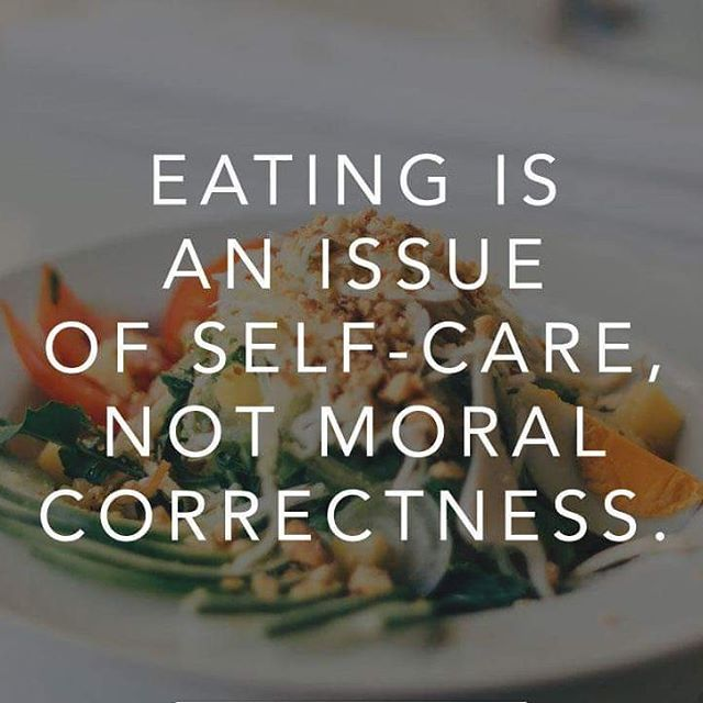 Eating is an issue of self-care, not moral correctness! Embark on your #intuitiveeating journey today with @eatuitivenutrition! #yyc #dietitian #nutritionist #nutrition #foodie #mindfulness