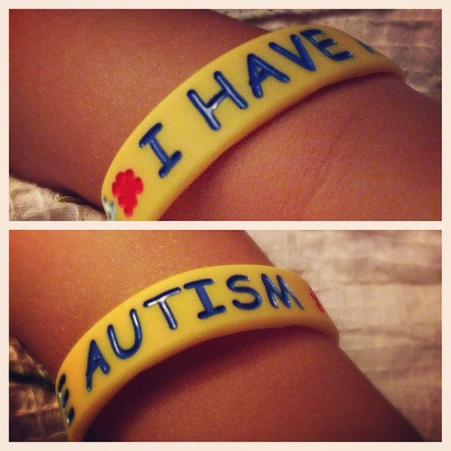 A bracelet helping Portland say what he can't say for himself.