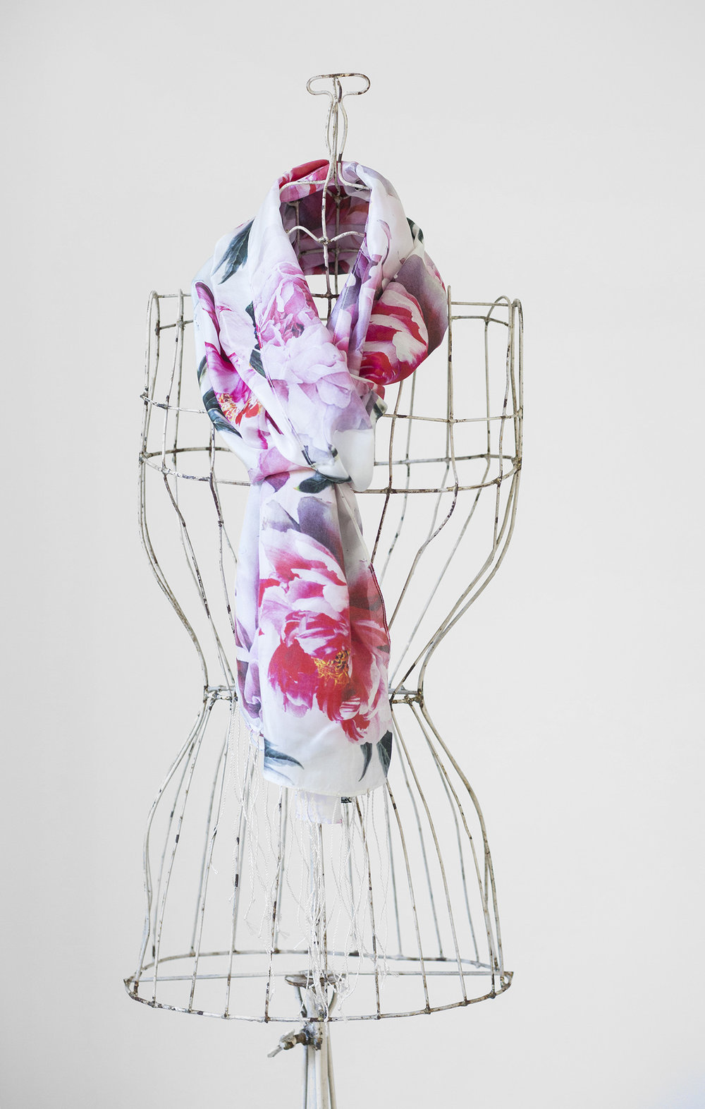 Luxurious silk scarves