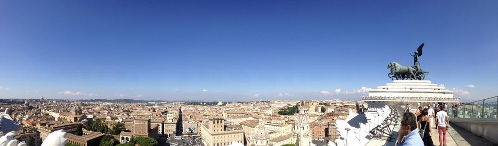 View from the top of the Altare della Patria