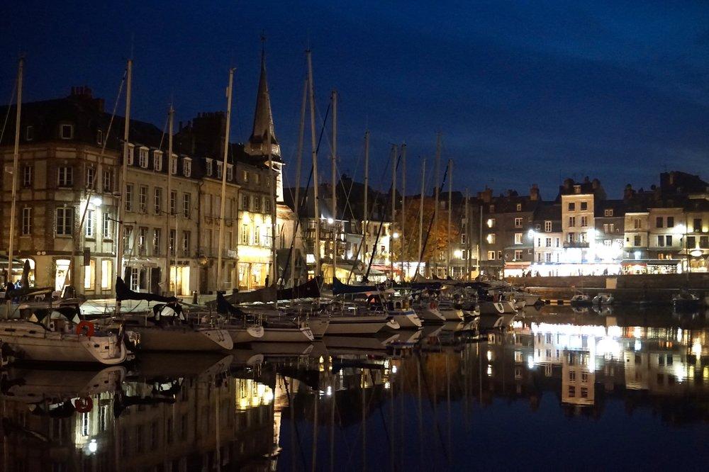 Honfleur-port-night