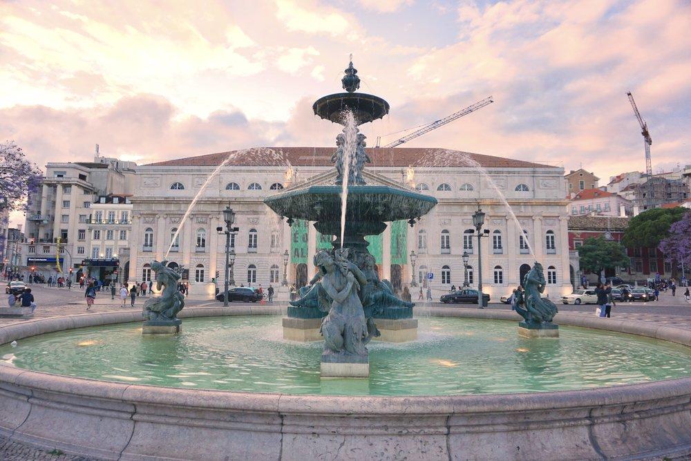Lisbon-Rossio-Square