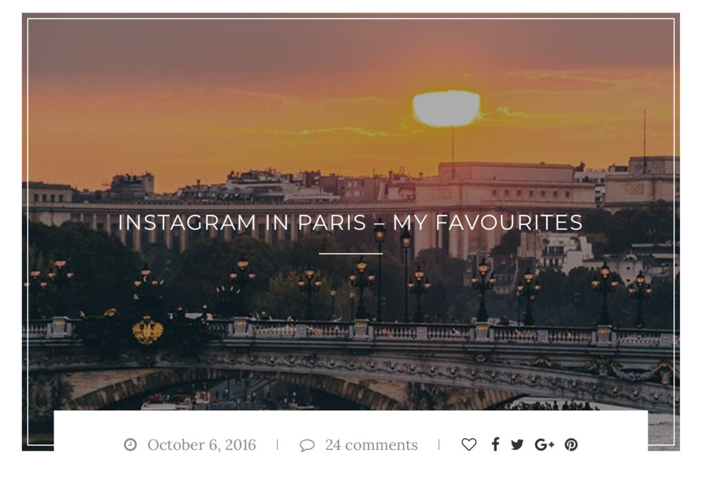 INSTAGRAM IN PARIS – MY FAVOURITES