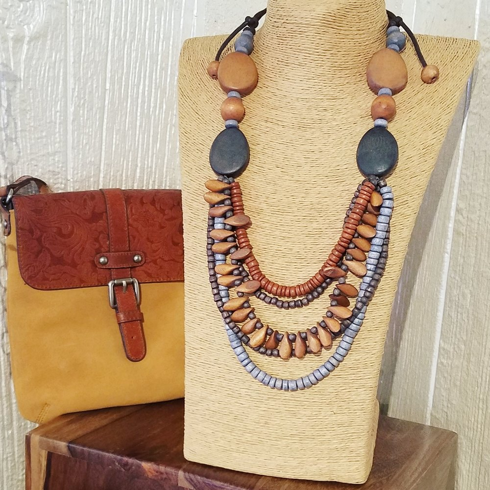 Affordable fashion tip: Want a new look, but can't justify purchasing a whole new outfit? Look for a statement necklace - that old black dress hanging in the back of your closet will be instantly transformed.