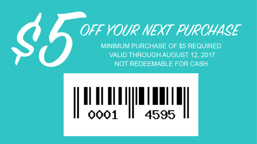 Print or save this image to your smart phone and present to chashier at checkout. Valid in store only at The Wardrobe at Revival, 13308 HWY 71, Bee Cave, TX 78738 so long as business is open at this location Valid Through August 12, 2017 Minimum purchase of $5 required to use promotion Not redeemable for cash