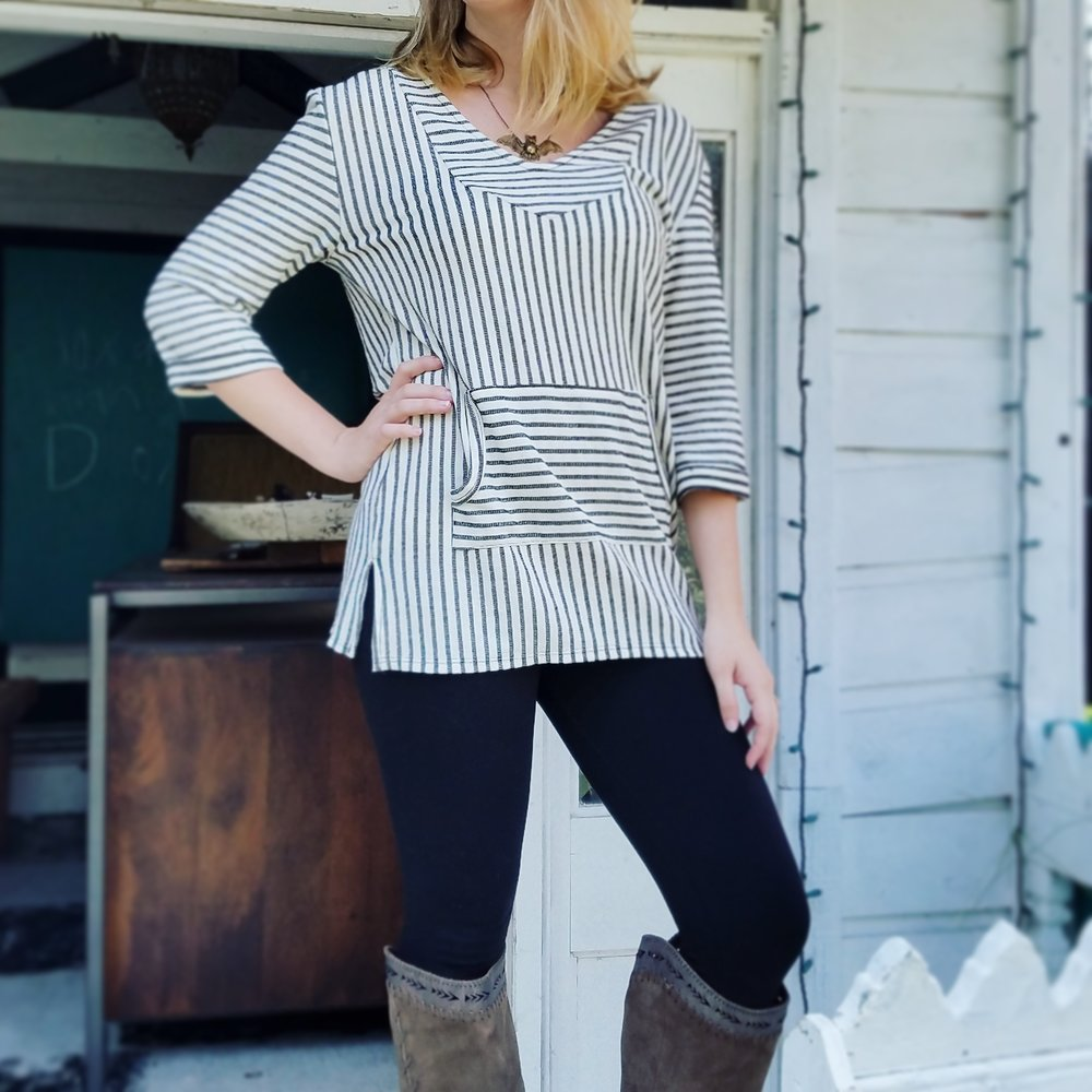 stripe comfy top with leggings