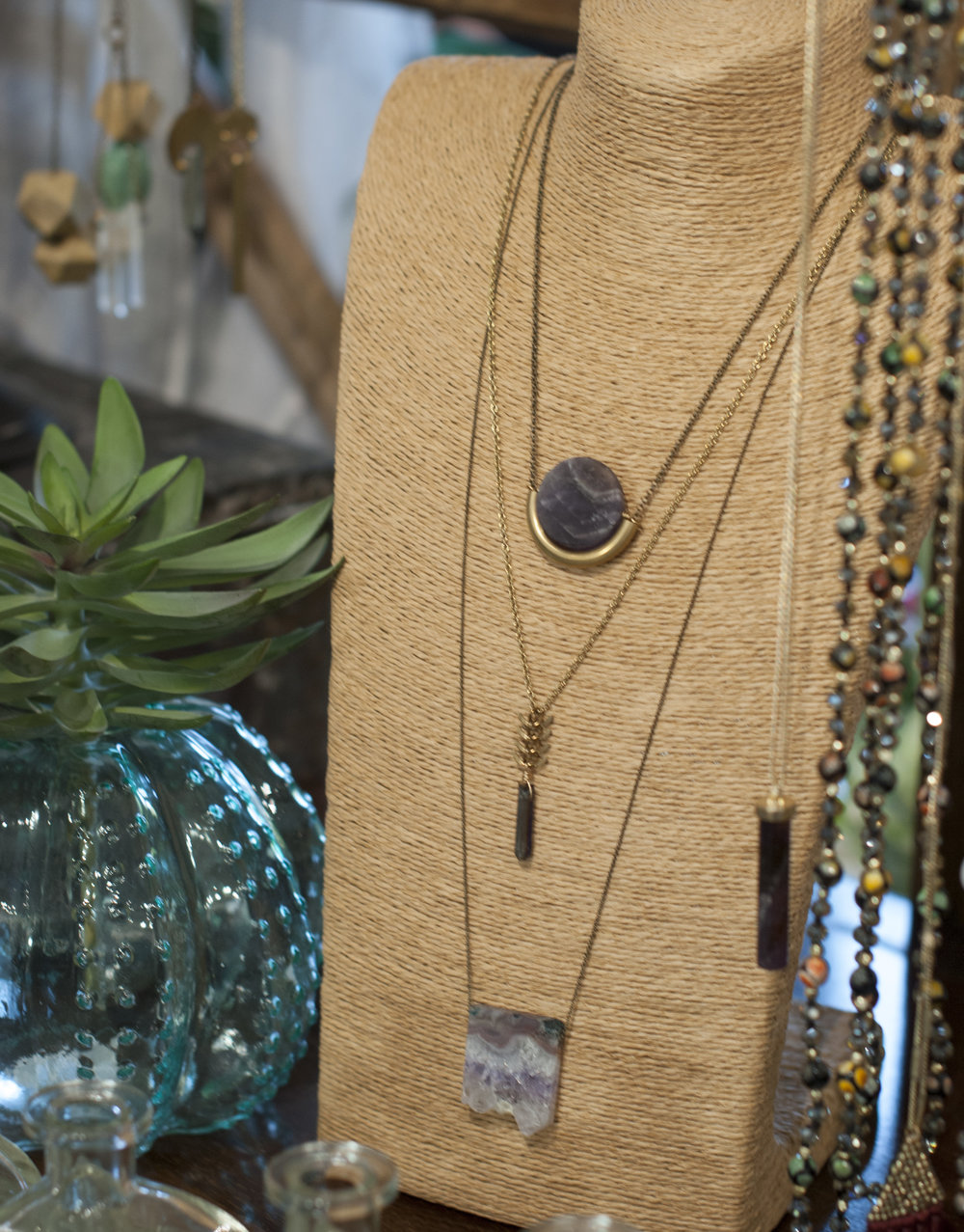artisan made jewelry at the wardrobe