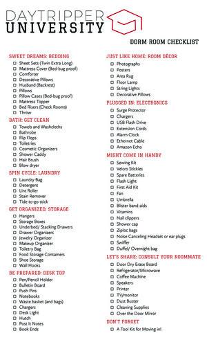 Shop Dorm Room Essentials  Daytripper University