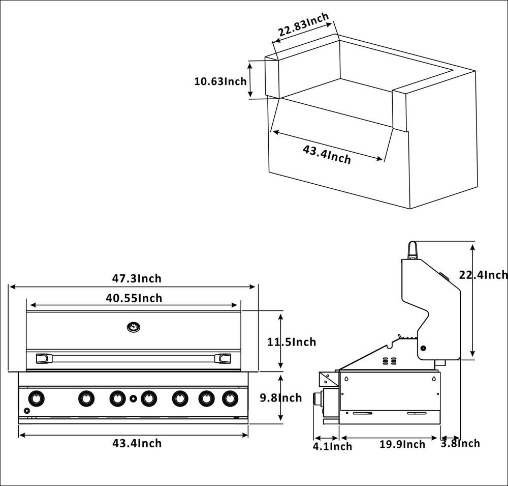 BI805 Cut Out Dims