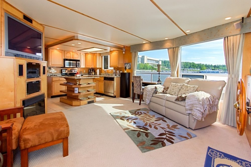 A 65-foot Legacy yacht river cruiser, dubbed Freedom II and based at National Harbor, is listing for $488,800. (Studio Trejo)