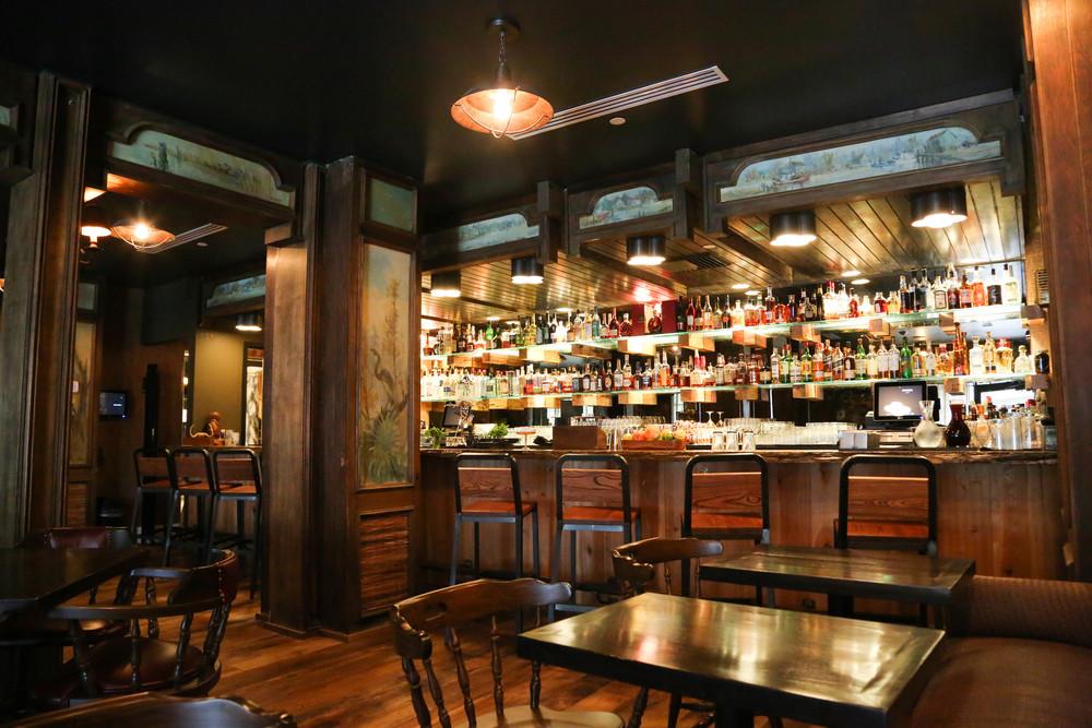 The bar at Bayou Bar