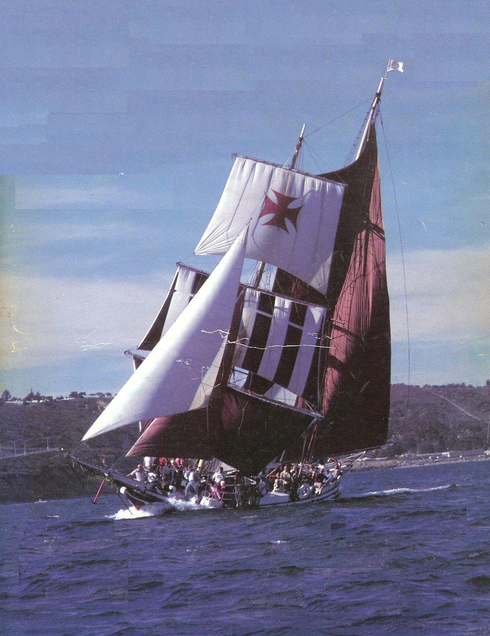 The Thomas Family ship - Brigantine Rendezvous (San Diego, California)
