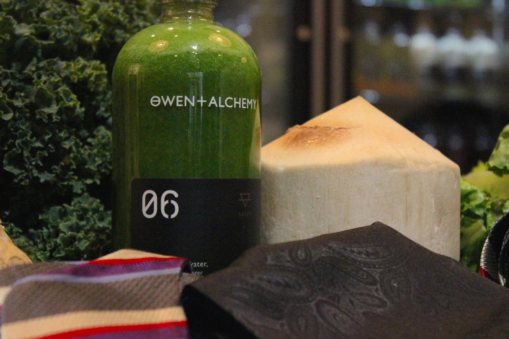 owen and alchemy cold pressed juice tie.JPG