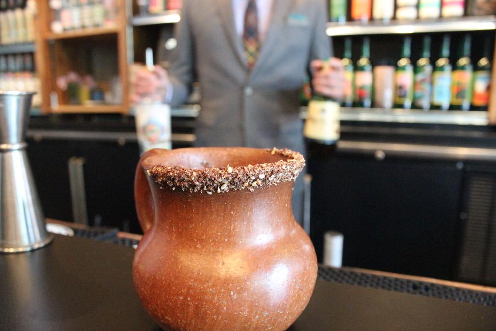 Mezcal Bottles Mezcaleria Las Flores Pour.JPG