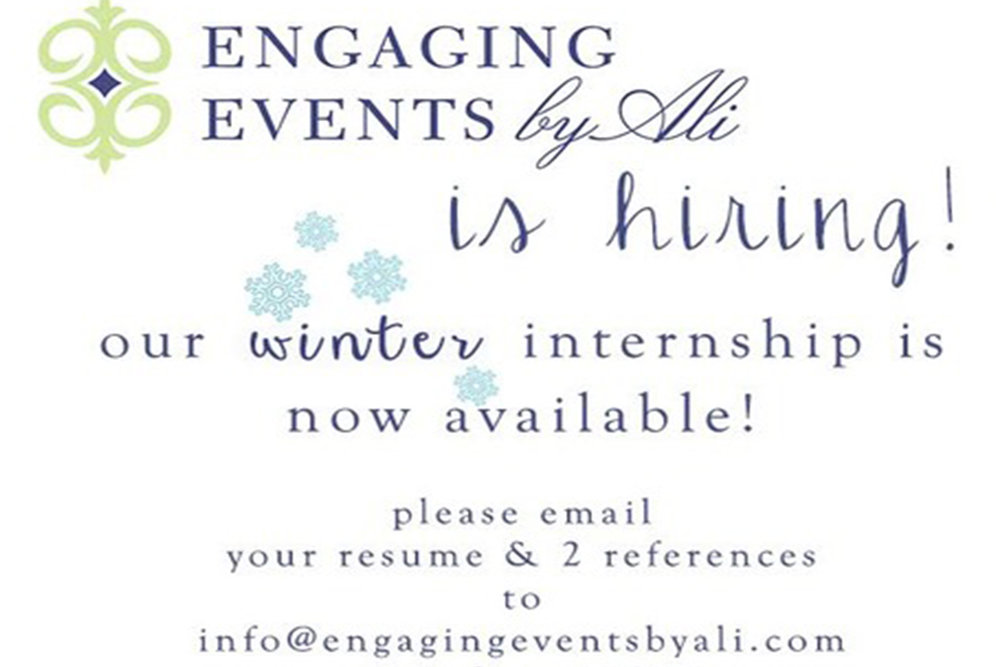 Chicago Wedding Planner Internship Available Engaging Events
