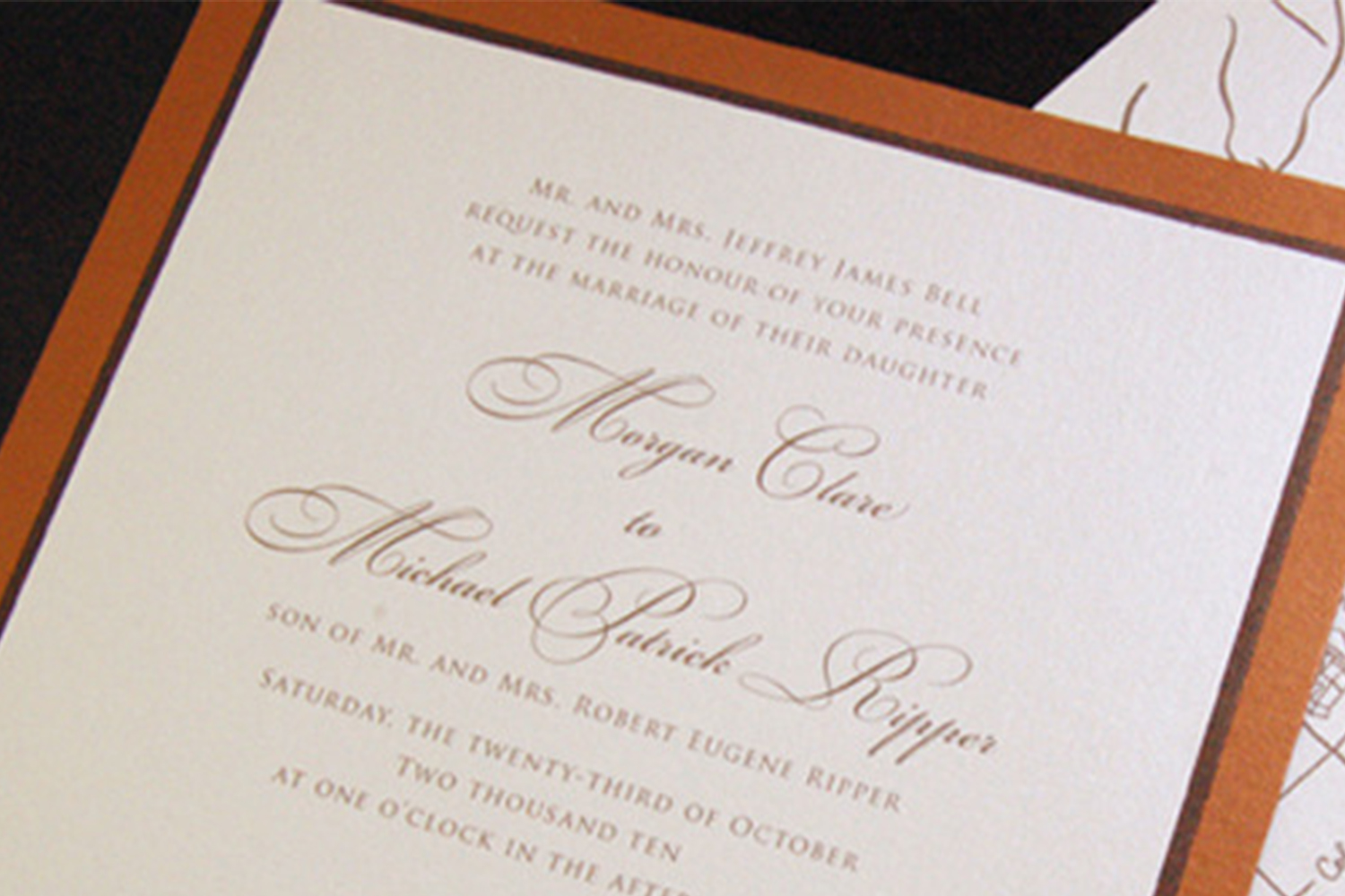 How to spell Honor on Wedding Invitation — Engaging Events