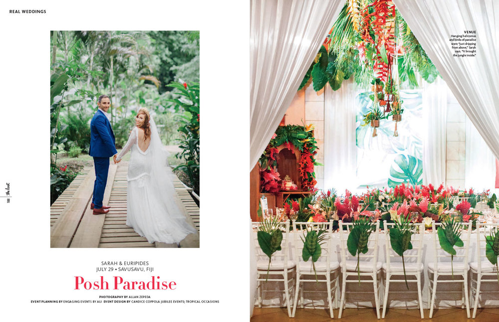 Fiji destination wedding featured in The Knot