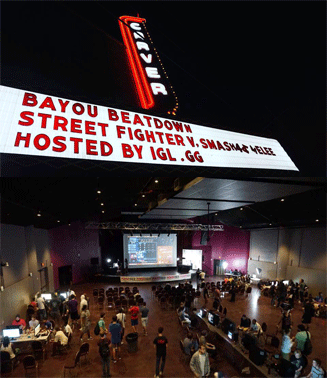 - At the venue we will be providing multiple PlayStation set ups for players to compete with each other onsite and online.On stage will be our streaming set up host & commentators providing you with all day live entertainment Our staff will be there every step of the way to walk everyone through the process of competing in a online/offline tournament!The Carver Theater has dedicated there venue on this day for all competitors and spectators for our league.There will be discounted food & beverages for all players throughout the day. We will be airing all your favorite Sunday football games all day so you wont miss a down!  Players competing from the venue can also take part in a few FREE mini games for prizes  provided by our sponsors.